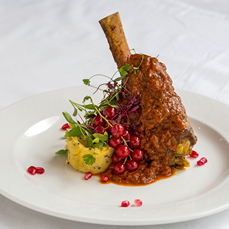 Lamb Shank Main Dish – Rose Indienne