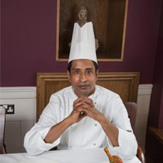 Chef Displaying Two Main Dishes – Rose Indienne